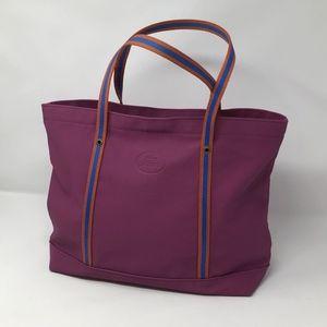 Lacoste Shopper Tote Handbag Purse Mulberry Orange